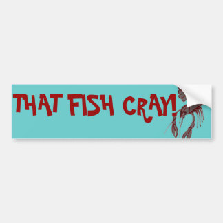 Esse peixe Cray! Autocolante no vidro traseiro Adesivo Para Carro
