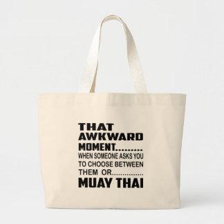 Esse tailandês de Muay inábil do momento Sacola Tote Jumbo