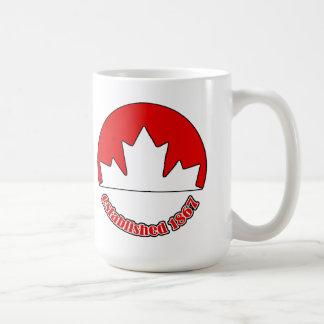Est. Caneca 1867 do dia de Canadá