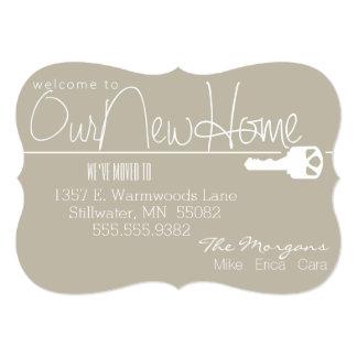Está aqui a chave a nossa casa nova convites personalizados