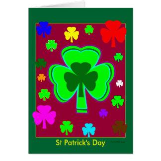 Está aqui a você e a seu o modelo 3a St Patrick Cartões