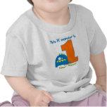 Esta camisa do aniversário do monstro de Lil prime Camiseta
