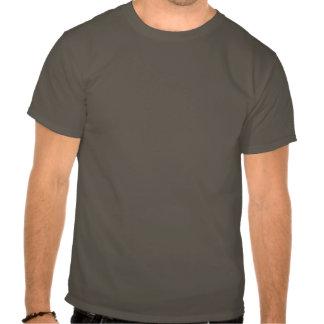 Esta camisa faz-me olhar gordo? (texto branco) t-shirt