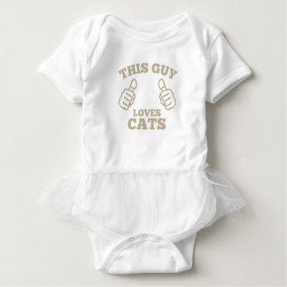 Esta cara ama gatos body para bebê