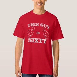 Esta CARA é sessenta T do ANIVERSÁRIO Camiseta