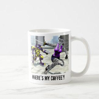 """Está carregando Tigress """"onde meu café?!"""" Caneca"""