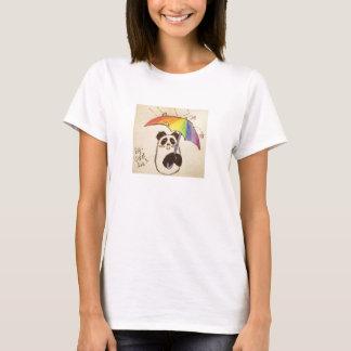 está chovendo a camisa da panda do anime do amor
