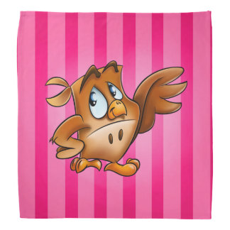 Esta coruja dos desenhos animados do bandana