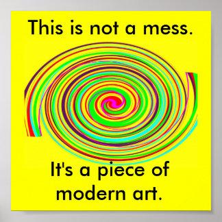 Esta é arte moderna pôster