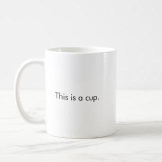 Esta é uma caneca de café do copo