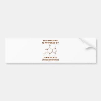 Esta máquina é psta pelo chocolate (o Theobromine) Adesivo
