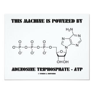 Esta máquina é psta pelo Triphosphate de adenosina Convite 10.79 X 13.97cm