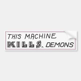 """""""Esta máquina mata autocolante no vidro traseiro Adesivo Para Carro"""