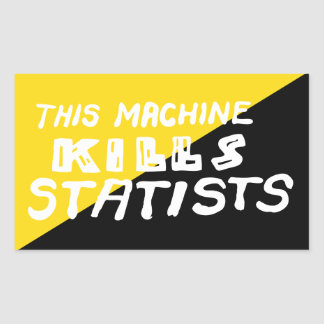 Esta máquina mata Statists Adesivo Retangular