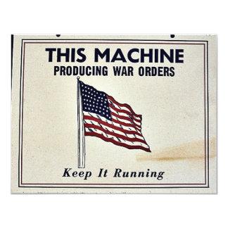 Esta máquina produzindo ordens da guerra convites personalizados
