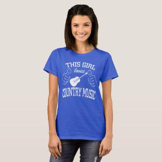 Esta menina ama a guitarra da música country camiseta