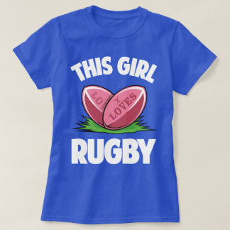 Esta menina ama o humor T engraçado do esporte do Camiseta