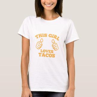 Esta menina ama o Tacos Camiseta