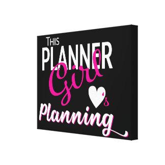 Esta menina do planejador ama planear canvas