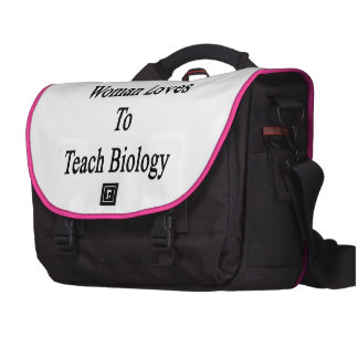 Esta mulher ama ensinar a biologia bolsa para laptops