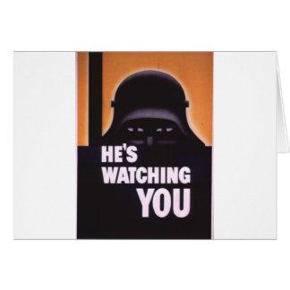 Está olhando-o propaganda cartão comemorativo