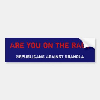 Está você no PANO? , Republicanos contra o Granola Adesivo Para Carro