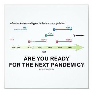 Está você pronto para a pandemia seguinte? convite quadrado 13.35 x 13.35cm