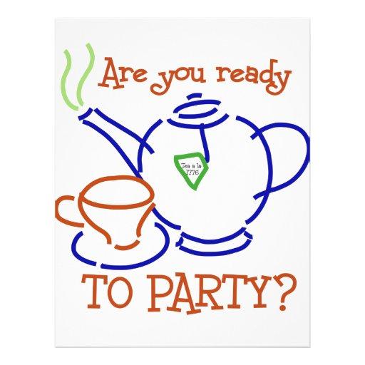 Está você pronto para party? modelo de panfletos