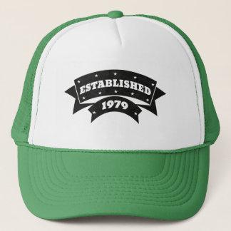 Estabelecido 1979 bonés dos chapéus