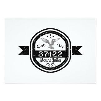 Estabelecido 37122 na montagem Juliet Convite 12.7 X 17.78cm