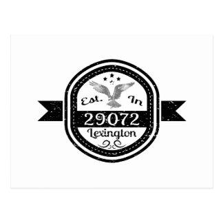 Estabelecido em 29072 Lexington Cartão Postal