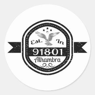 Estabelecido em 91801 Alhambra Adesivo