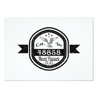 Estabelecido na montagem 48858 agradável convite 12.7 x 17.78cm