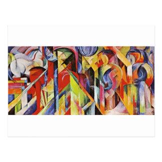 Estábulos por Franz Marc Cartão Postal