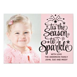 Estação cor-de-rosa do cartão de Natal da foto à