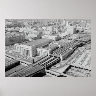 Estação da rua da estrada de ferro de Pensilvânia Pôster
