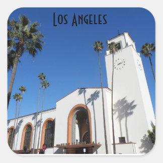 Estação da união de Los Angeles Adesivo Quadrado