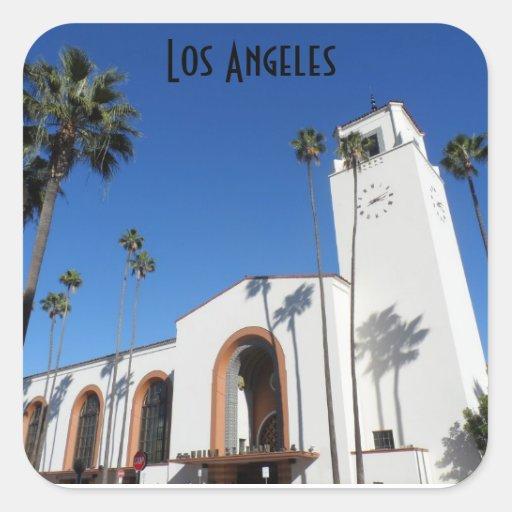 Estação da união de Los Angeles Adesivos Quadrados