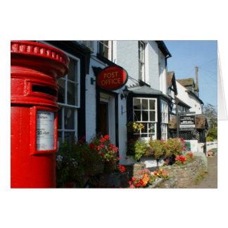 Estação de correios da vila cartão