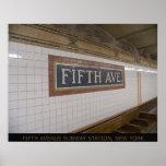 Estação de metro da Quinta Avenida, impressão 35 b