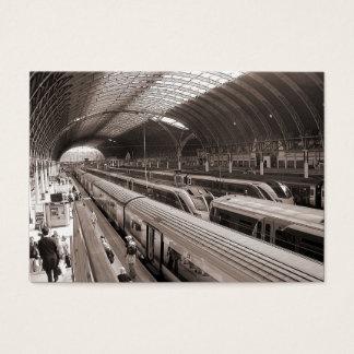Estação de Paddington, Londres. Mini foto Cartão De Visitas