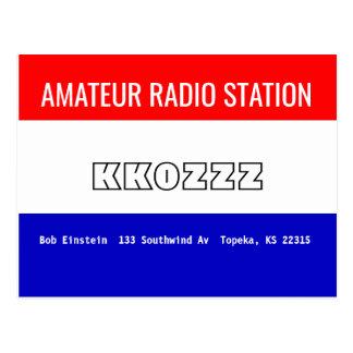 Estação de rádio amadora do cartão de QSL
