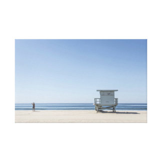 Estação do Lifeguard em uma praia Impressão Em Canvas