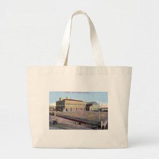 Estação marítima, vintage 1910 de Napoli Italia Bolsas Para Compras