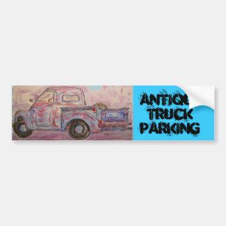 Estacionamento antigo do caminhão adesivos