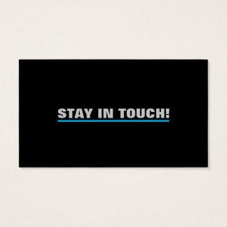 Estada em cartões de visitas do toque