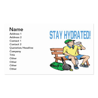 Estada hidratada cartão de visita