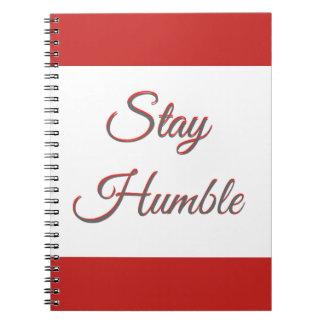 Estada humilde - caderno