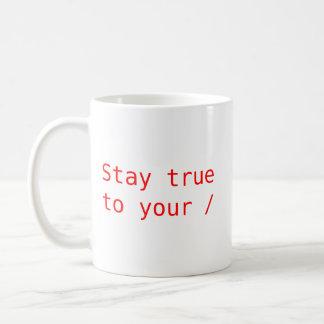 Estada verdadeira a sua raiz caneca de café