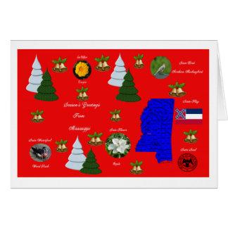 Estado de cartão do Natal de Mississippi